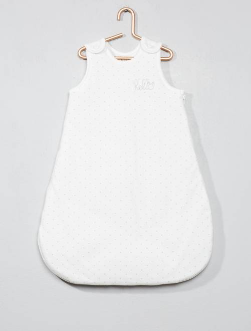 Saquito cálido de algodón orgánico puro                                                         BLANCO Bebé niña