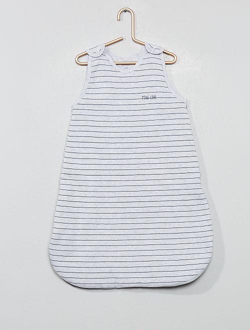 Saquito cálido de algodón orgánico puro                                                                 GRIS Bebé niña