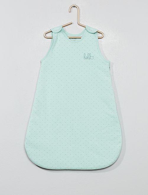 Saquito cálido de algodón orgánico puro                                                                 VERDE Bebé niña