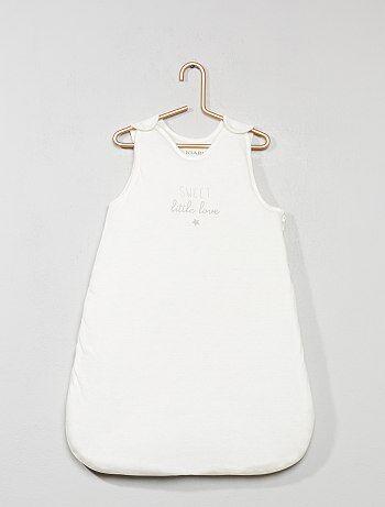 Saquito cálido para bebé estampado - Kiabi