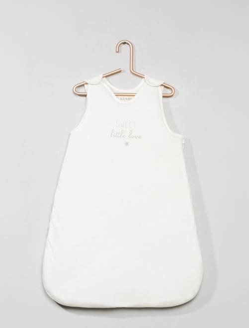 Saquito cálido para bebé estampado                             blanco nieve