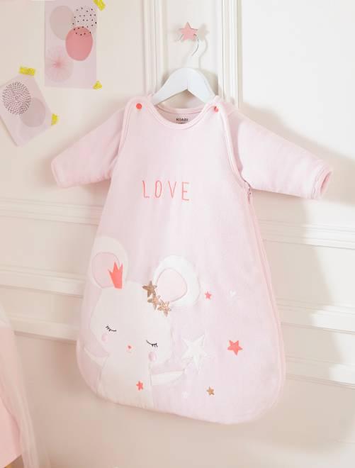 Saquito de terciopelo 'hada ratón'                             rosa pálido Bebé niña