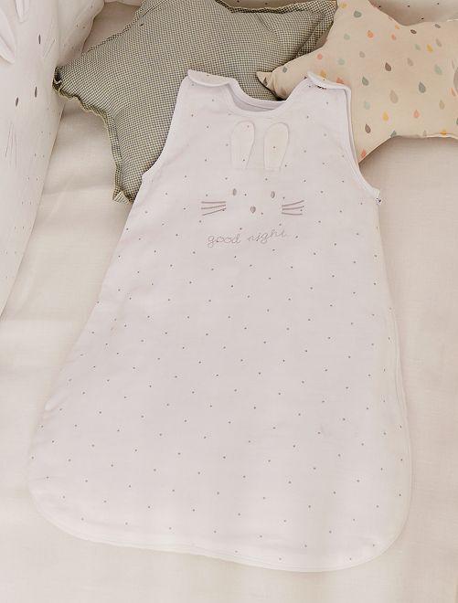 Saquito ligero de muselina de algodón puro                             BLANCO