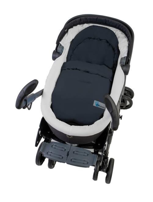 Saquito para asiento o silla de coche beb ni o gris for Silla para ninos carro
