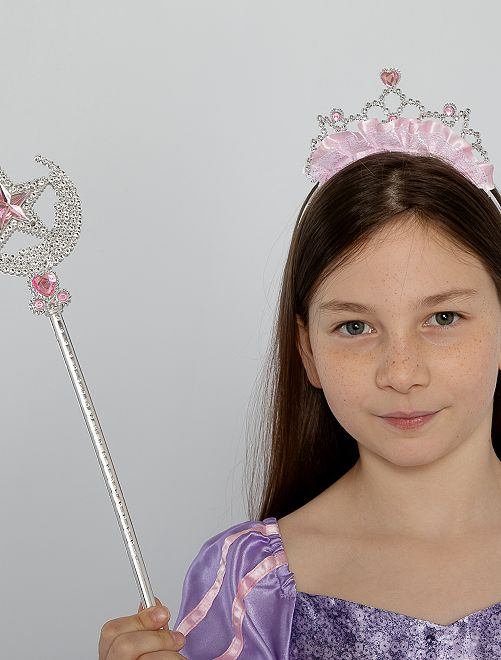 Set de diadema + varita princesa                             GRIS
