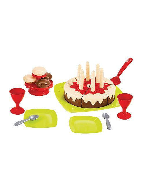 Set tarta de cumpleaños 'Ecoiffier'                             multicolor