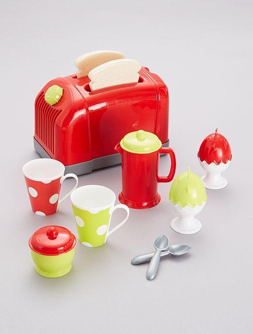 Set tostadora y accesorios                             ROJO