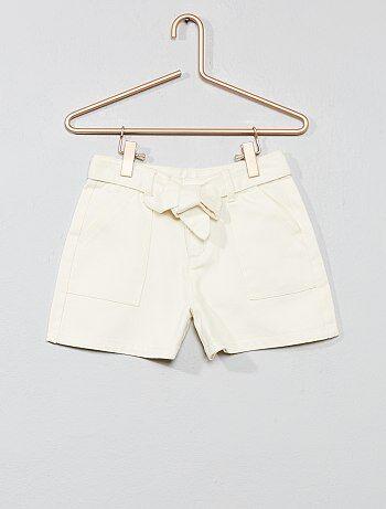 11081dfa051e Shorts Chica   blanco   Kiabi