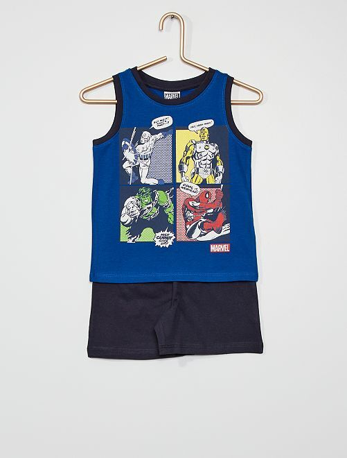 Short + camiseta tirantes algodón 'Spider-Man' 'Marvel'                                         azul/marino