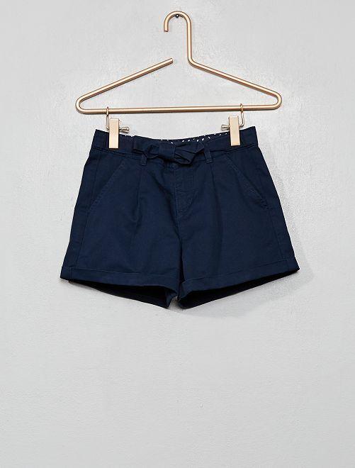 Short con cinturón anudable                                                                                         azul