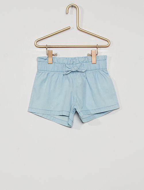 Short de chambray                             azul