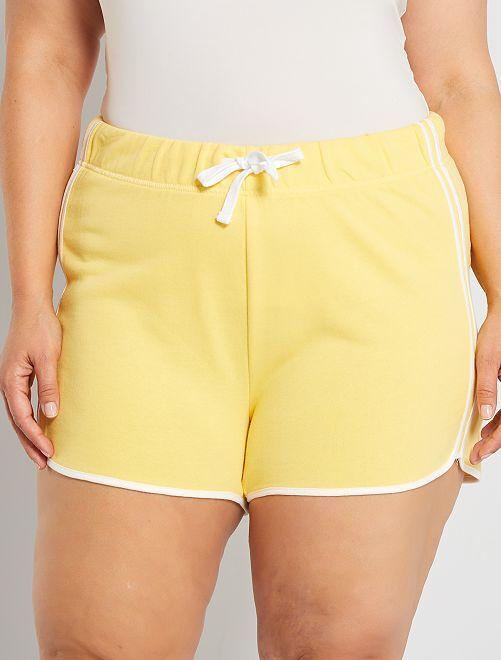 Short de deporte eco-concepción                                                     amarillo mimosa