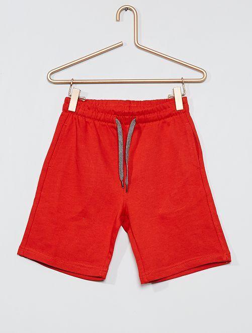Short de felpa ligera eco-concepción                                                                             rojo