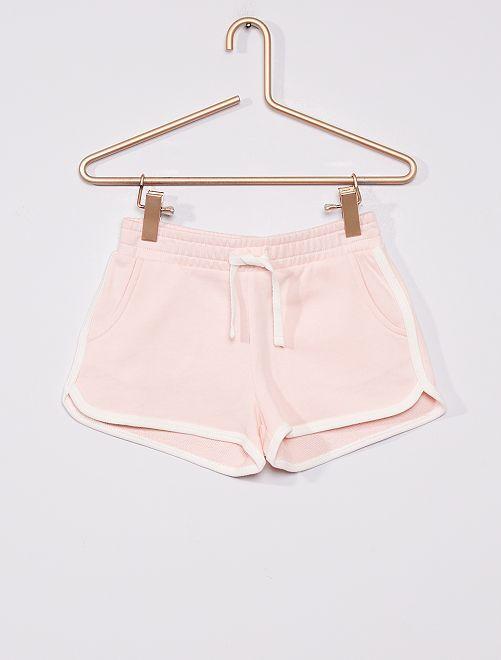 Short de felpa                                                     rosa claro