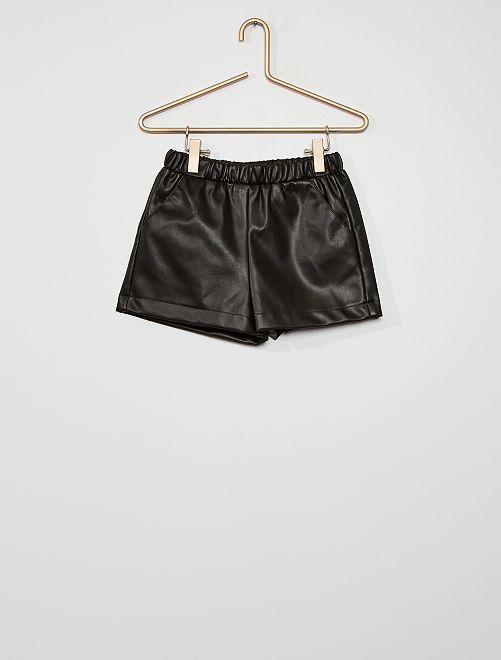 Short de material sintético                                         negro