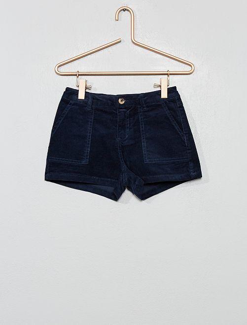 Short de pana                                                                 azul Chica