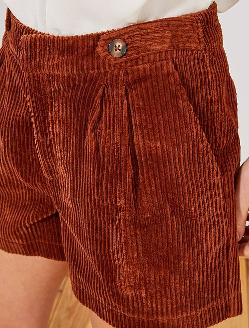 Short de pana                                         MARRON