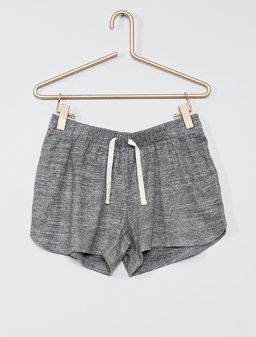 Short de pijama de punto                                         GRIS
