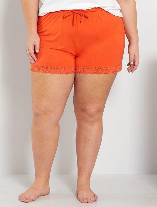 Short de pijama                                                                 naranja