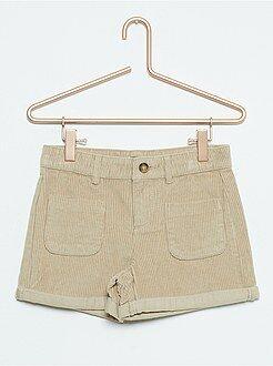 Shorts - Short de terciopelo de talle alto