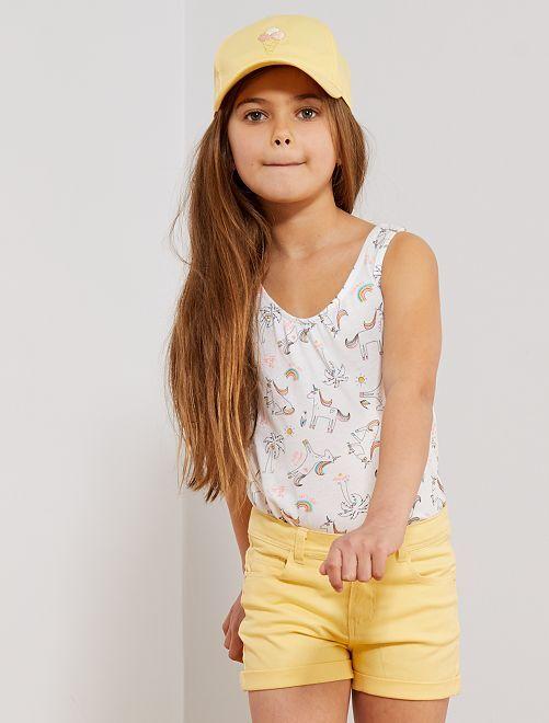 Short liso                                                                             amarillo Chica