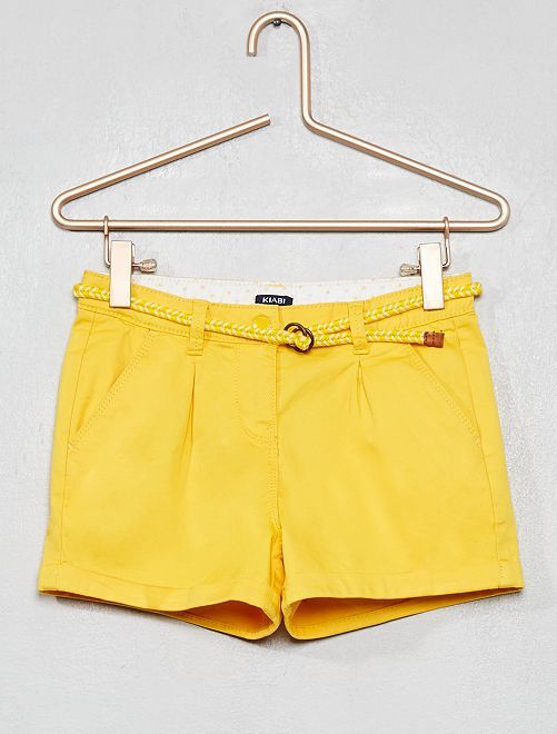 Short liso + cinturón trenzado                                                                                                                 AMARILLO Chica