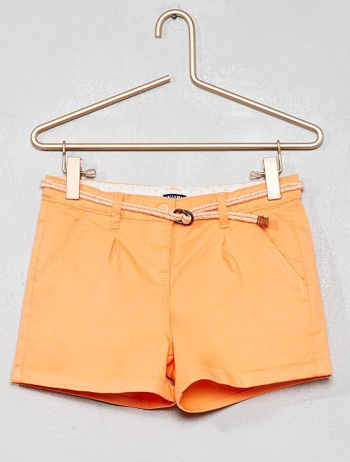 Short liso + cinturón trenzado                                                                                                                 naranja Chica