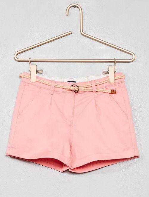 Short liso + cinturón trenzado                                                                                                     ROSA Chica