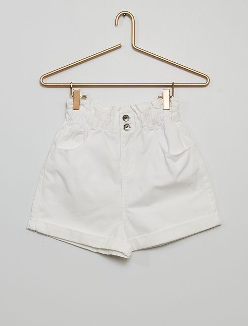 Short 'paper bag' holgado                                                     blanco