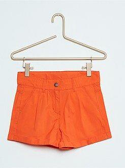 Shorts - Short recto de algodón