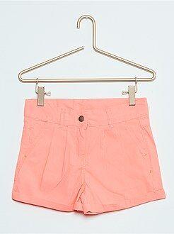 Shorts, piratas - Short recto de algodón
