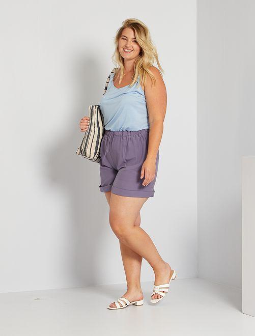 Short satinado                             violeta gris