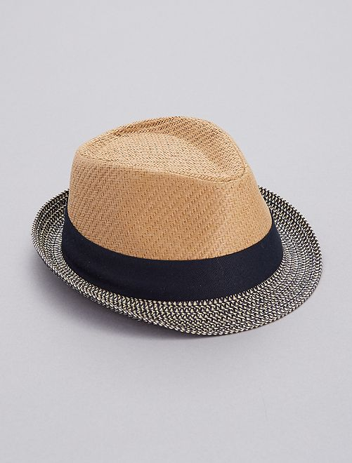 Sombrero borsalino bicolor                             azul Chico