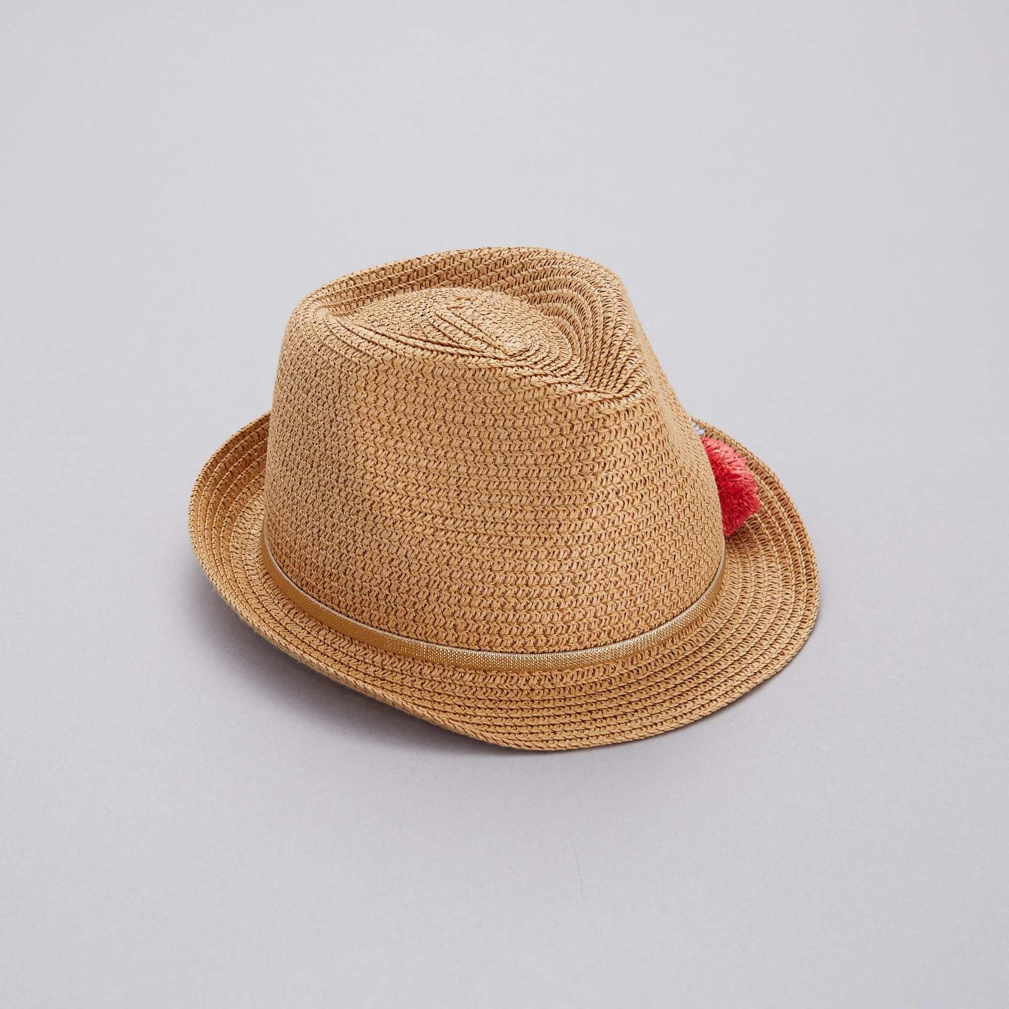 Sombrero borsalino con borlas Chica - castaño - Kiabi - 7 d352e9303bf