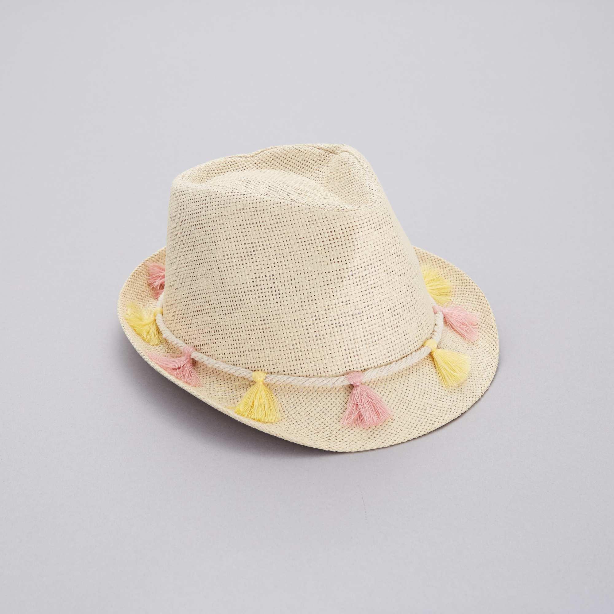 fb8fc686c9852 Sombrero borsalino con borlas Chica - rosa - Kiabi - 7