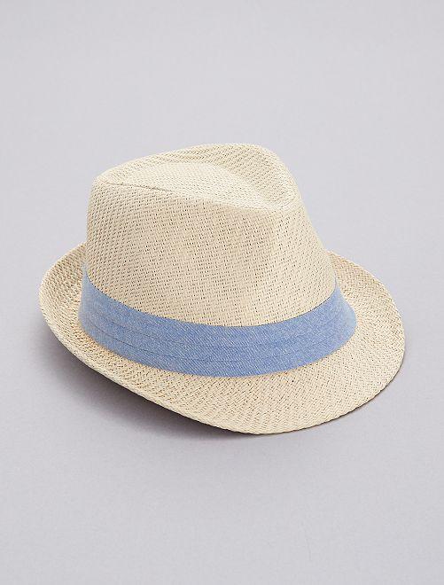 Sombrero borsalino de chambray                             azul