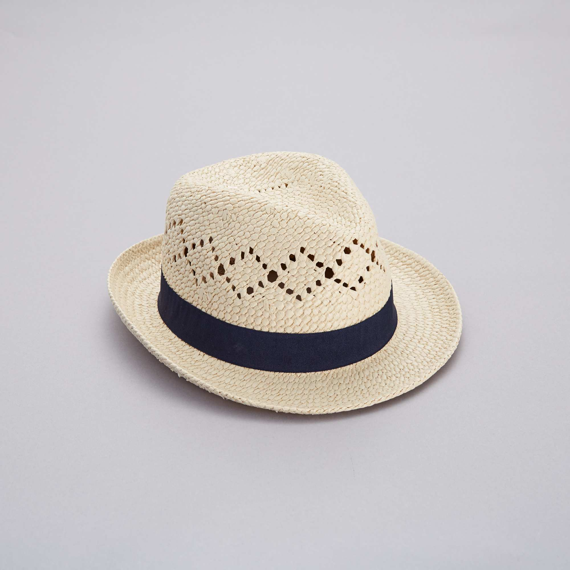 Sombrero borsalino de paja Mujer talla 34 a 48 - azul navy - Kiabi ... 6288e556928