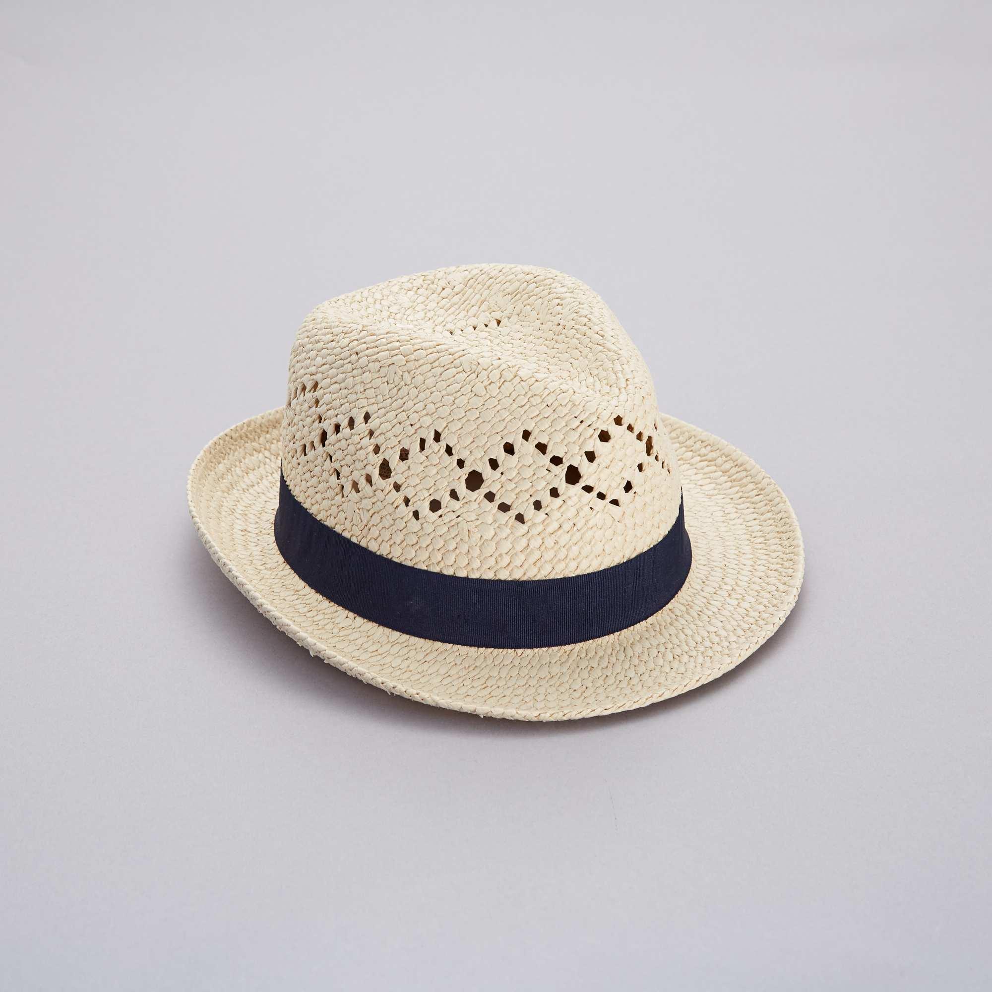 Sombrero borsalino de paja Mujer talla 34 a 48 - azul navy - Kiabi ... 7f2f1b7da8f
