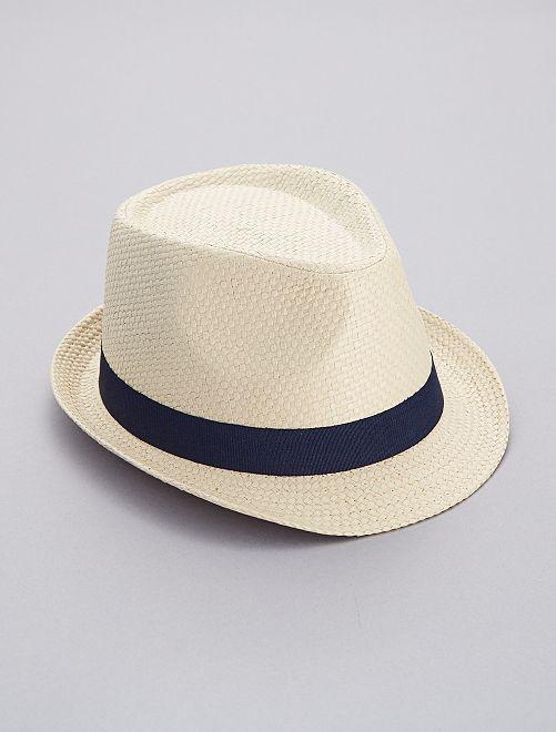 Sombrero borsalino de paja                                         BEIGE Hombre