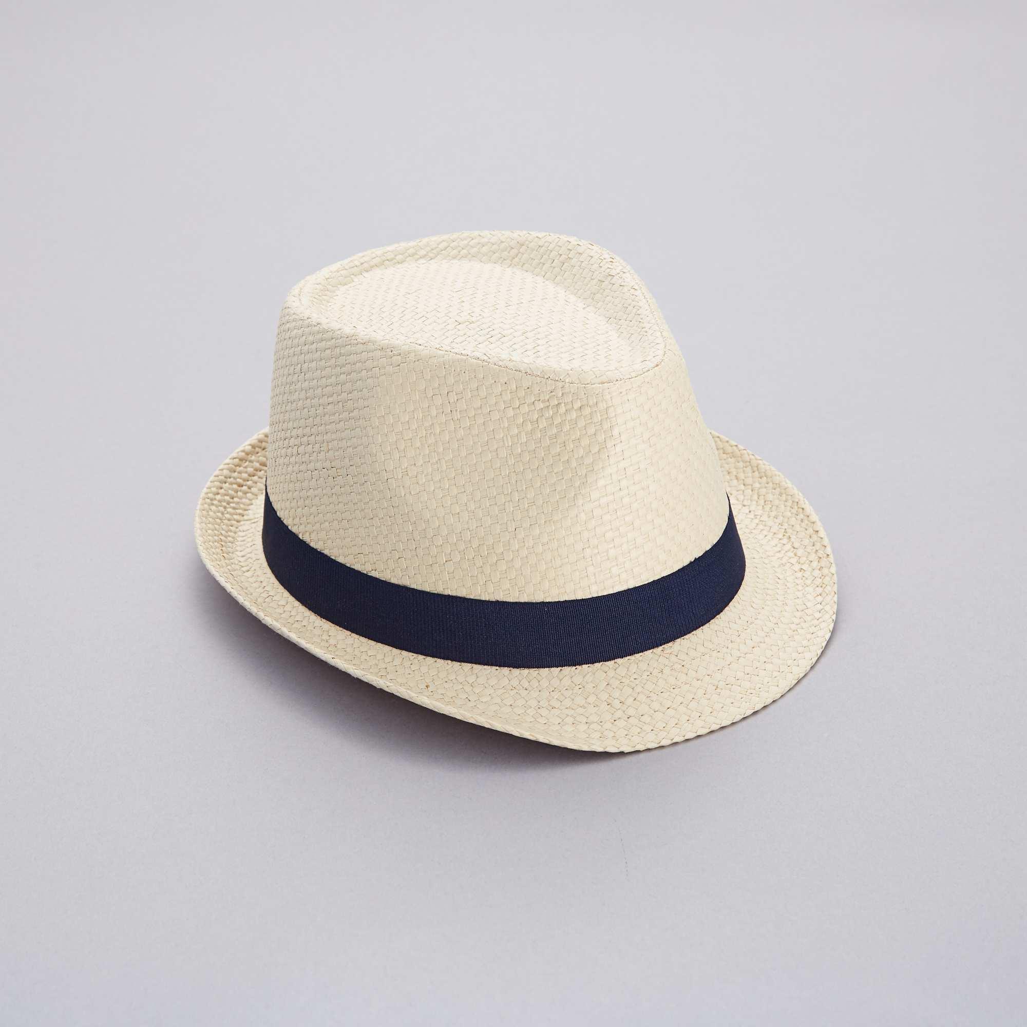 e6d3526588233 Sombrero borsalino de paja Hombre - BEIGE - Kiabi - 7