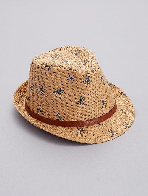 Sombrero borsalino de 'palmera'                             castaño Chico