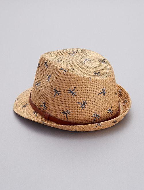 Sombrero borsalino de  palmera  Chico - castaño - Kiabi - 7 0a77ab419dd