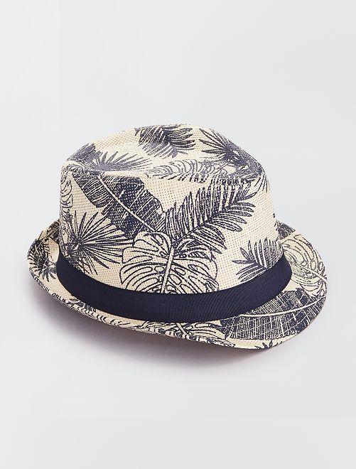 Sombrero borsalino estampado                                         BEIGE