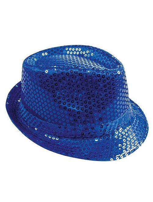 Sombrero con lentejuelas                                                     azul