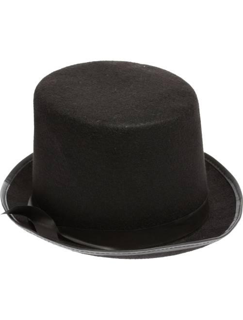 Sombrero de copa liso                             negro