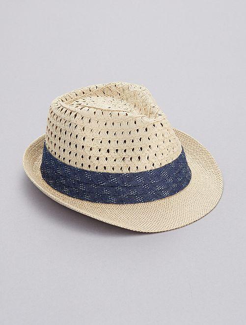 b8c57a57d418f Sombrero de paja Chico - azul - Kiabi - 7