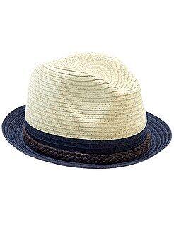 Sombrero de paja bicolor