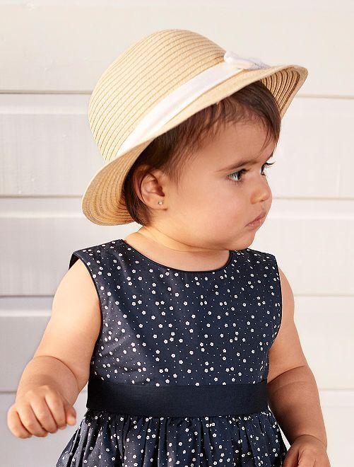2d7c8cbe20271 Sombrero de paja con lazo Bebé niña - beige - Kiabi - 4