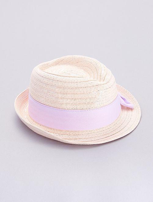Sombrero de paja con lentejuelas                             BEIGE