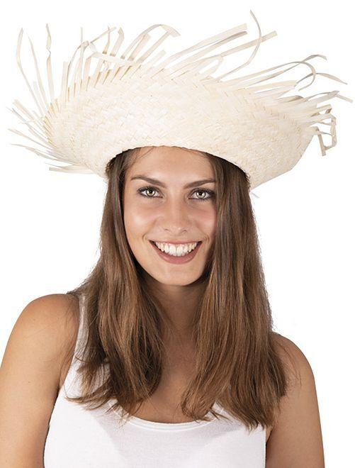 Sombrero de paja Hawái                             beige